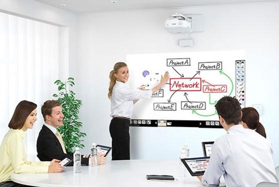 Interactieve projector vergaderruimte