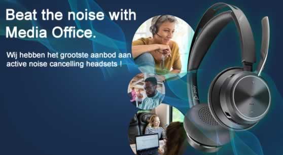 Werk écht van overal met een AEC 5Active Noise Cancelling° headset !