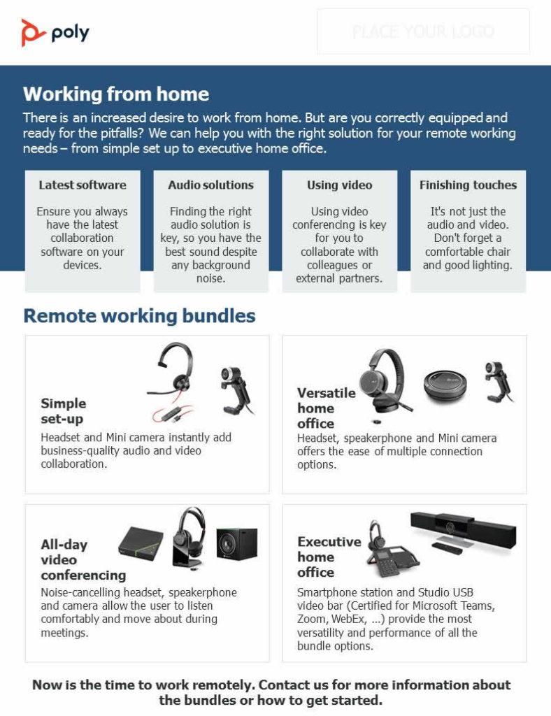 Thuiswerken of telewerken gaat beter met een comfortabele headset en speakerphone.