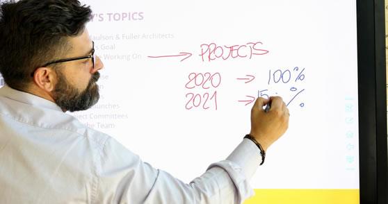 Schrijf op élke achtergrond van de interactieve monitor