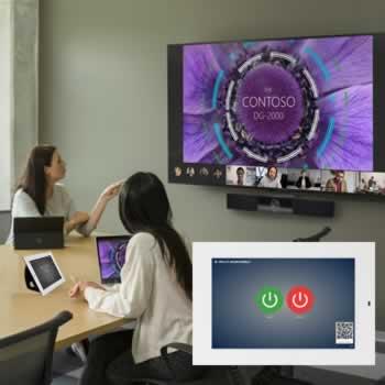 Bediening van aanwezige technologie in boardroom via QR code