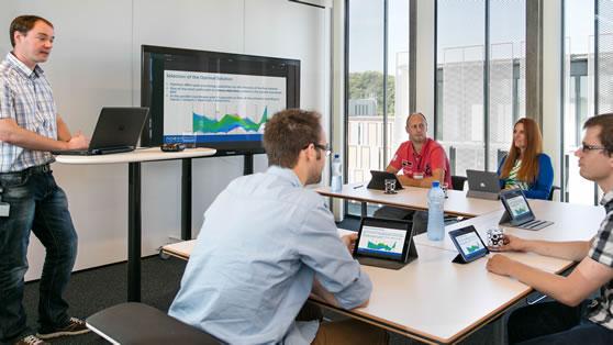 Crowdbeamer in zakelijke meetings