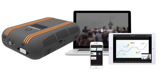 Crowdbeamer toestel en app