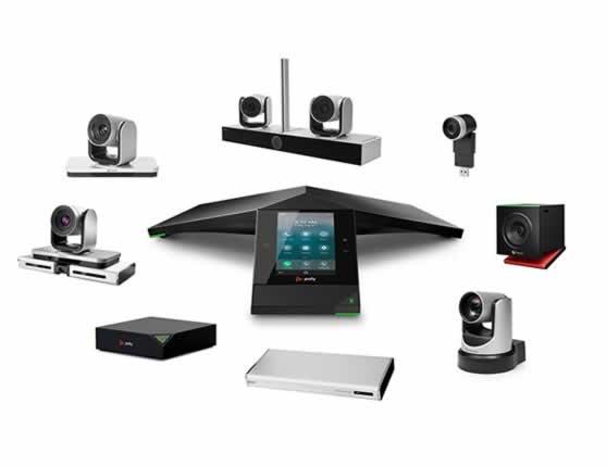 Individuele componenten van een videoconferentie systeem