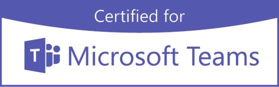 Wij adviseren Microsoft Teams gecertificeerde apparatuur voor vergaderzaal/vergaderruimte.