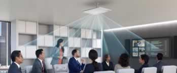 Plafondmicrofoon voor videoconferencing