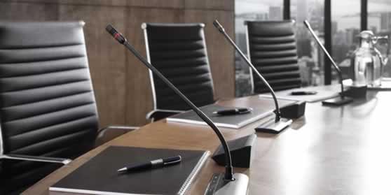 Digitaal conferentiesysteem met stemmogelijkheid