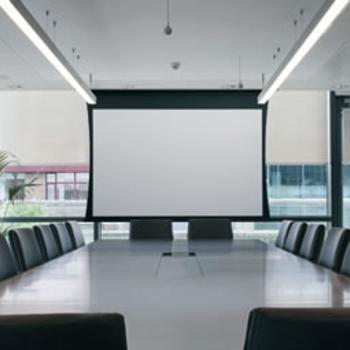 Toepassing-vergaderzaal-Projectiescherm
