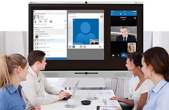 alles in een touch display videoconferencing camera audio