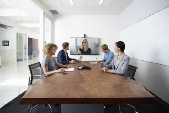 Presentatiescherm voor videoconferentie