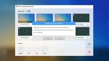 Touchmonitor voor videoconferentie